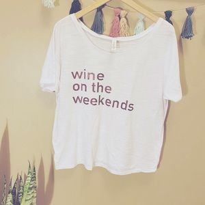 Wine time graphic tee